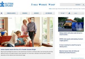Autism Speaksの公式サイトでも特集記事が組まれている。